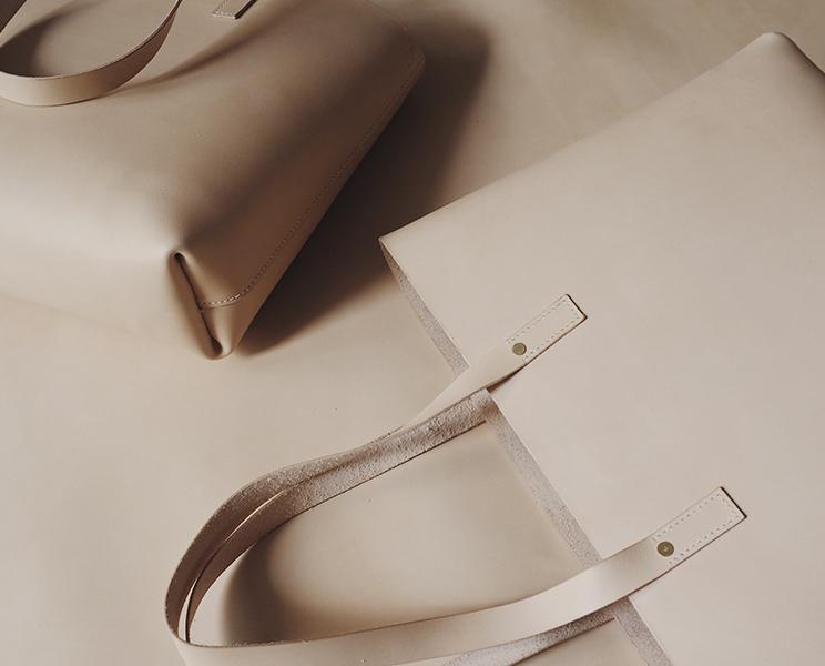 Taske i kernelæder fra Lille Svend KBH