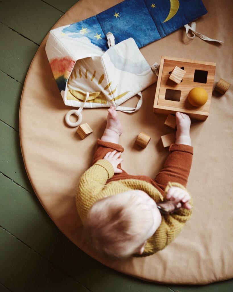 Legegulv på børneværelset - leggemåtte i læder fra Lille Svend KBH